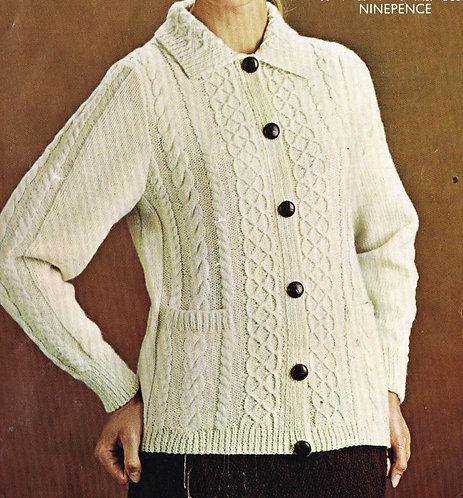 1672Li  ladies vintage knitting pattern PDF