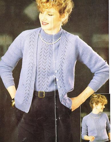 7001P ladies vintage knitting pattern PDF