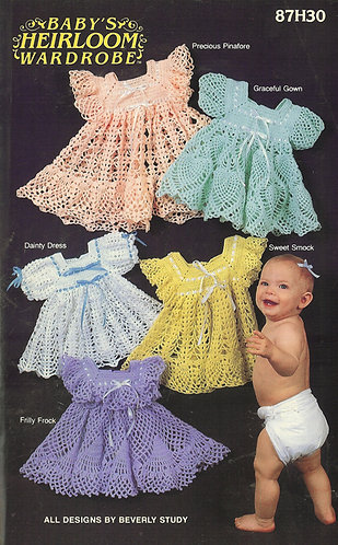Babys heirloom vintage crochet pattern PDF