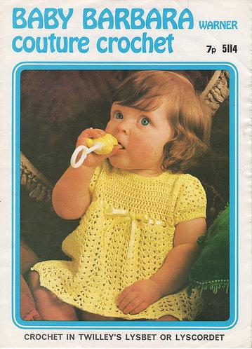5114Bw baby vintage crochet pattern PDF