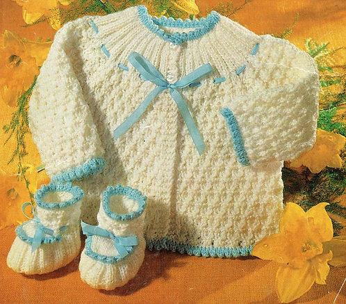 1650m baby vintage knitting pattern