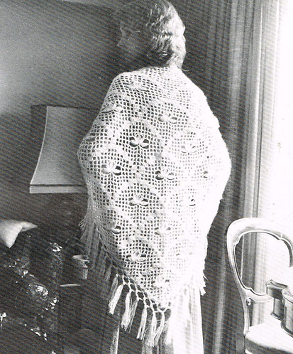 All Set Romance ladies vintage crochet pattern PDF