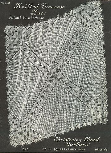 ANP17 viennese lace vintage knitting pattern PDF