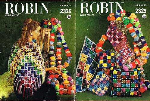 2325R shawl and novelties vintage crochet pattern  PDF Download