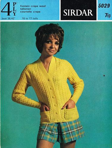 5029S Ladies vintage knitting pattern PDF
