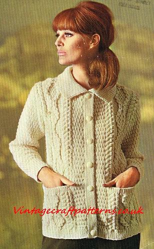 9516P ladies vintage knitting pattern PDF