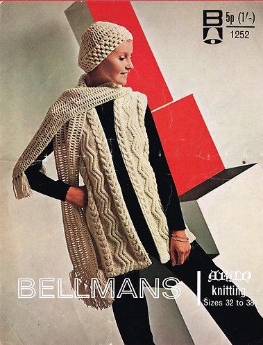 1252Bell ladies vintage knitting pattern PDF