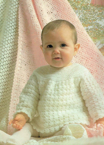 VCP S208 baby square shawl vintage crochet pattern PDF Instant download