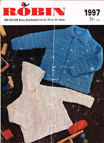 1979R baby hoodie vintage knitting pattern  PDF Download