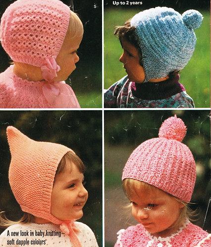 8018P baby vintage knitting pattern PDF