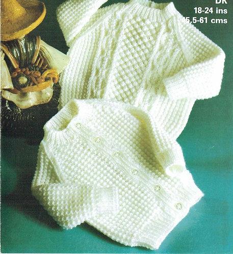 1963M baby cardigan jumper vintage knitting pattern  PDF Download