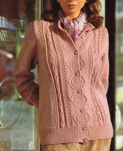 9649S ladies vintage knitting pattern PDF