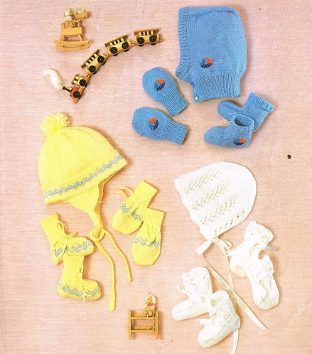 233Ar baby vintage knitting pattern PDF