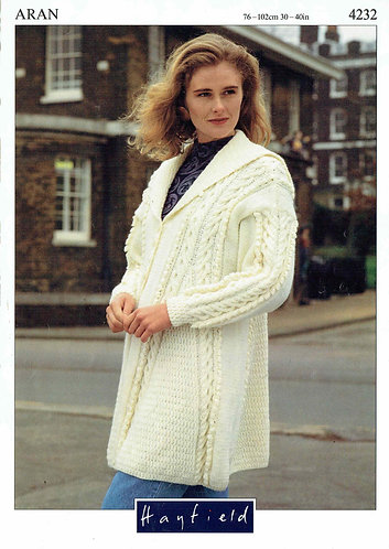 4232H Ladies vintage knitting pattern PDF