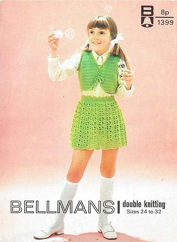 1399Bell children vintage crochet pattern PDF