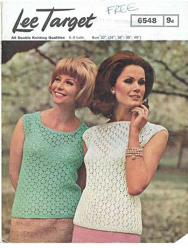 6548Lt ladies summer top vintage crochet pattern  PDF download