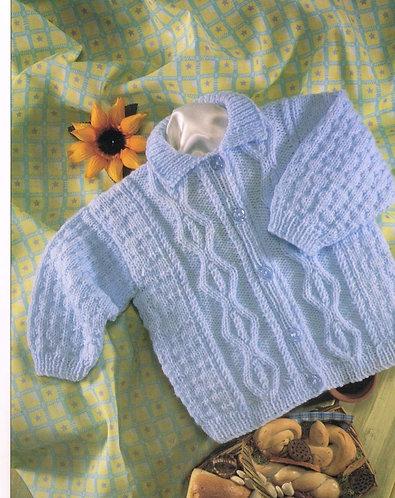 4674H baby cardigan vintage knitting pattern  PDF Download