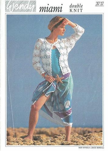 3717W ladies vintage crochet pattern PDF