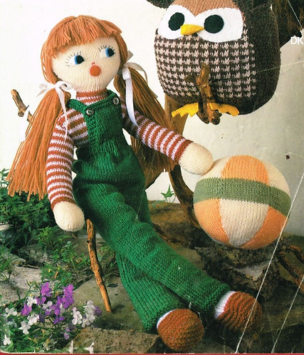 1854M toy vintage knitting pattern   PDF Download