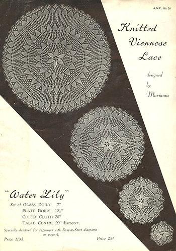 ANP26 viennese lace vintage knitting pattern PDF