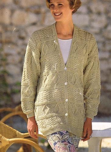 4407H ladies cardigan Vintage knitting pattern  PDF Download