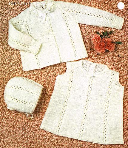 2439R Baby vintage knitting pattern PDF