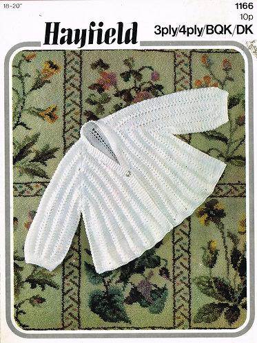 1166H baby matinee coat vintage knitting pattern  PDF Download