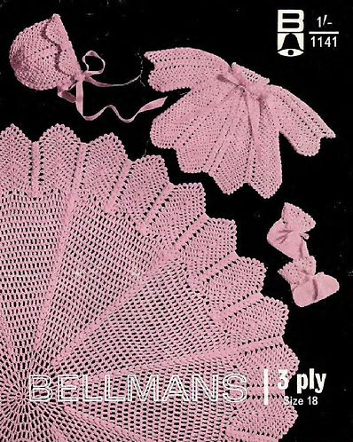 1141Bell baby vintage crochet pattern PDF