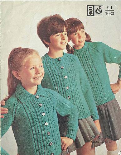 1030Bell childrens vintage knitting pattern PDF