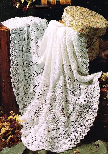21575 baby shawl vintage knitting pattern  PDF Download