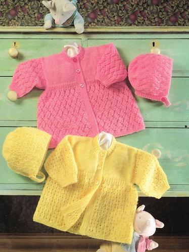 4729H baby matinee coat vintage knitting pattern  PDF Download