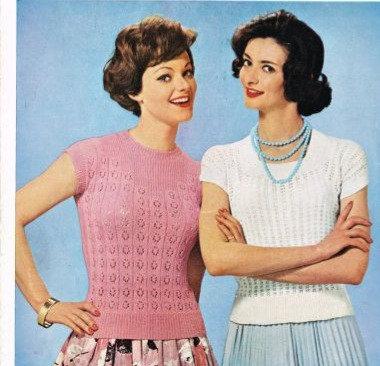 570T ladies summer top vintage knitting pattern  PDF Download