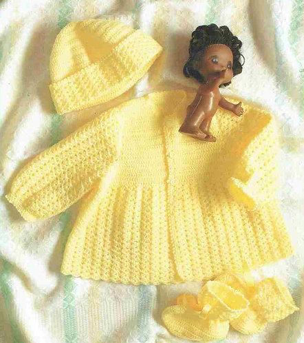 3910 baby matinee set crochet pattern PDF
