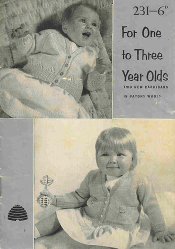 223P baby matinee coats vintage knitting pattern  PDF Download