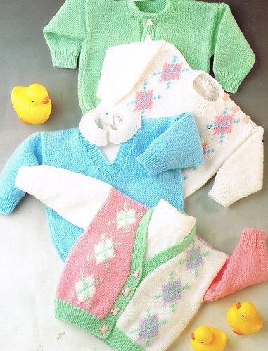 7104T baby vintage knitting pattern PDF