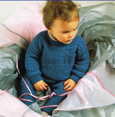 2275H baby trouser suit vintage knitting pattern  PDF Download