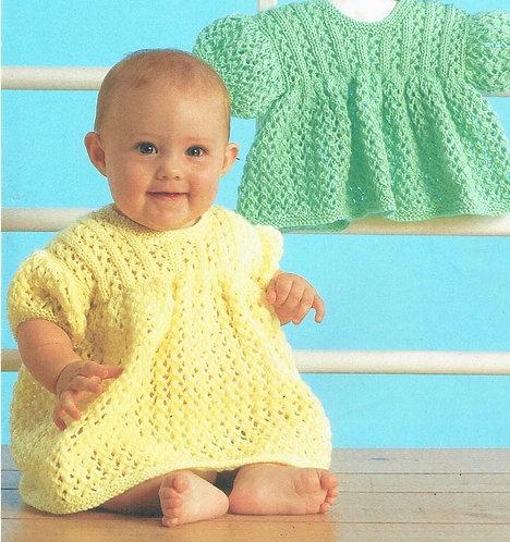5PG baby dresses vintage knitting pattern  PDF Download