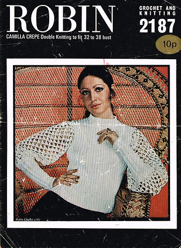 2187R ladies jumper vintage knitting & crochet pattern  PDF Download