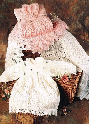 3617S baby vintage knitting pattern PDF