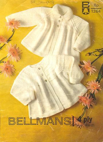 1384Bell baby vintage knitting pattern PDF