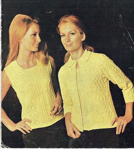 802T ladies twivnset vintage knitting pattern PDF Download