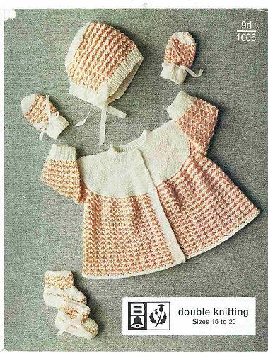 1006Bell baby vintage knitting pattern PDF