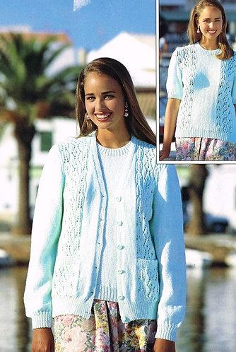 4133H ladies twinset Vintage knititng pattern  PDF Download
