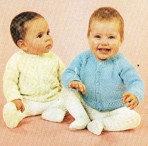 750Ar baby vintage knitting pattern PDF