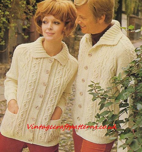 6065P Ladies vintage knitting pattern PDF