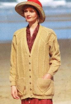 5080 ladies cardigan Vintage knitting pattern  PDF Download