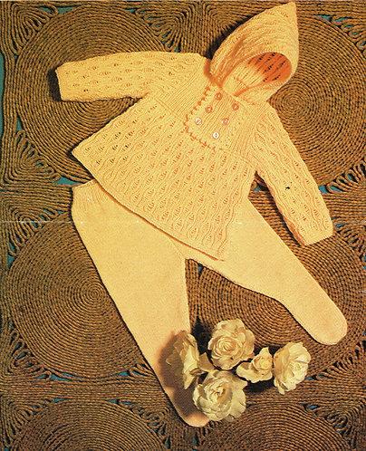 1588rp baby vintage knitting pattern