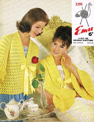 2295E ladies vintage knitting pattern PDF