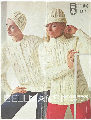 1215Bell ladies vintage knitting pattern PDF