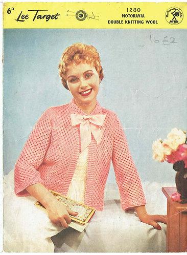 1280Lt ladies bedjacket vintage knitting pattern  PDF download